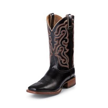 "Nocona Men's 11"" Square Toe Black Brasalis Calf #NB4030"