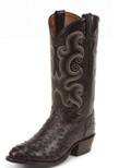Tony Lama EXOTIC WESTERN BLACK FULL QUILL OSTRICH #CT833