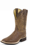 Tony Lama EXOTIC WESTERN  COWBOY CREPE® DARK BROWN VINTAGE SMOOTH OSTRICH #9078