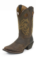 Justin Boots Stampede Punchy Collection DARK BROWN RAWHIDE #2523