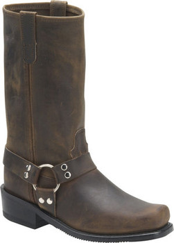 "Men's Double H 12"" DARK TAN Harness Boot #4004"