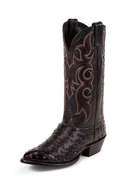 """Nocona Men's EXOTIC 11"""" BLACK CHERRY FULL QUILL OSTRICH #MD8506"""