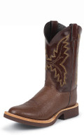 "MEN'S JUSTIN PALUXY TEKNO CREPE® ANTIQUE BROWN SMOOTH OSTRICH / 11"" CHOCOLATE CALFINO #5131"