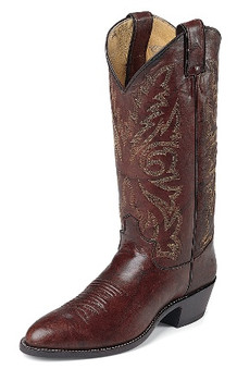 Men's Justin WESTERN Collection DARK BROWN MARBLED DEERLITE #1564