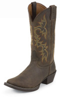 MEN'S JUSTIN QUINT STAMPEDE COLLECTION WESTERN SORREL APACHE #2552