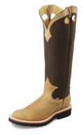 "Men's Justin SNAKE BOOT COLLECTION 17"" DUNE TRACTION #2113"