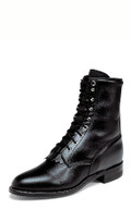 "MEN'S JUSTIN HIRAM 8"" BLACK KIDDIE LACE-UP ROPER #506"