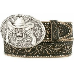 "BLACK GHOST OF TOMBSTONE 1 1/2"" TOOLED LEATHER  #C41063"
