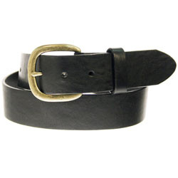 "JUSTIN WORK ARIEL BLACK 1 1/2"" LEATHER #232BK"