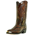 "Men's Laredo 12"" Exotic Prints New York ANTIQUE TAN LIZARD PRINT #68082"