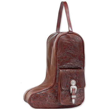 American west Mahogany Oakleaf Collection Zip-Around Boot bag #0210736