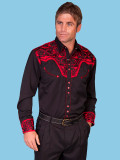 Scully Men's Long Sleeve Western Shirt Tomato #P-634-TOM