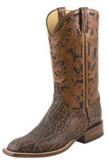 Men's Lucchese Classics Bark Elephant with Mahogany and Black Pueblo Floral Hand Tooling #L1426