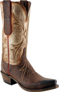 Women's Lucchese 1883 Novillero Chocolate Burnished Mad Dog Goat with Acetone Bronze Goat #4701