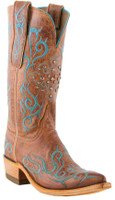 Women's Lucchese 1883 El Duke Peanut Brittle Burnished Mad Dog Goat with Stud #N4746