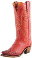 Women's Lucchese 1883 Athens Red Orly Calf with Kasandra Wingtip #N4749