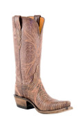 Women's Lucchese 1883 Novillero Redwood Lizard with Destroyed Antique Brown Buffalo #N4078
