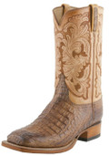 Men's Lucchese Classics Tand Burnished Hornback Caiman Body Cut with Leggenda Hand Tooled #L1417