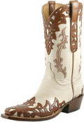 Men's Lucchese Classics Bone Goat with Mahogany Cheyenne Wingtip and Collar #L1673