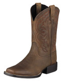Kid's Ariat Boots Quickdraw Collection Distressed Brown #10004853
