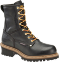 "Men's Carolina Elm 8"" Black Waterproof Logger #CA8823"
