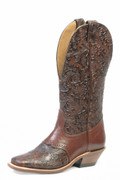 "Women's Boulet 13"" Wide Square Toe Dankan Brown / Ranger Chestnut #2069"