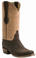 Men's Lucchese Classic Chocolate Sueded Elephant with the Raja Stitch Design #L1444