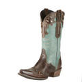 Women's Ariat Boots ZEALOUS BARNWOOD/TEAL GREEN #10015347