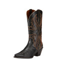 Women's Ariat Boots HERITAGE WESTERN X TOE OLD BLACK #10017322
