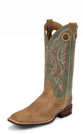 Men's Justin JACKSBORO BENT RAIL ARIZONA TAN COWHIDE/SAGE COWHIDE #BR354