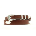 "NOCONA Top Hand Belt Tapered Brown 1 1/4"" #N2476602"