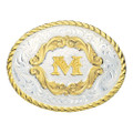 Montana Silversmiths Gold Filigree Initial Western Belt Buckle #5000M
