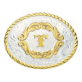 Montana Silversmiths Gold Filigree Initial Western Belt Buckle #5000T