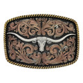 Montana Silversmiths John Wayne Simple Rope Class Impressions Attitude Buckle #A534T