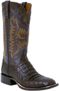 Men's Lucchese Barrel Brown Hornback Caiman and Dark Brown Ranch Hand #M4549
