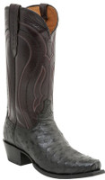 MEN'S LUCCHESE MONTANA BLACK FULL QUILL OSTRICH AND CORDOVAN CALF #M1608.74