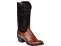MEN'S LUCCHESE CHARLES SIENNA CAIMAN BELLY AND DARK BROWN #M1635.R4