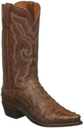 MEN'S LUCCHESE FRANKLIN TAN BURNISHED CAIMAN HORNBACK TAIL  #N1151