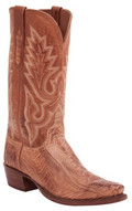 MEN'S LUCCHESE ANSON BRANDY MATTE OSTRICH LEG/COGNAC BURNISHED #HL1007