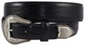 "DAN POST WESTERN BELT lizard printed leather strap1 1/2"" #9110500-BK"