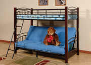 #4510-Twin Futon Wood Post bunk