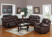 #80414 Monclair Reclining Sofa, Love & Rocking Chair (5 recliners)