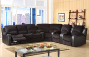 #80482 Sectional Reclining Sofa, Love and Wedge, 4 Recliners