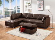 #80507 Contemporary Sectional with Storage Ottoman