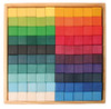 Grimm's Wooden Large Mosaic Square Block Set (100 Pieces)