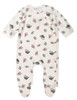 Under the Nile Organic Cotton Flannel Side-Snap Footie