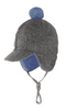 Organic Wool/ Cotton Winter Baby Cap Lined with Organic Cotton Sherpa