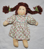 Organic Cotton Waldorf Doll with Floral Dress
