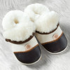 Natural Leather Soft-Soled Lambskin Slippers