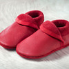 """Handmade Natural Leather Soft-Soled Shoe- """"Classic"""" Berry"""